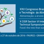 XXV Congresso Brasileiro Ciencia Tecnologia Alimentos CBCTA